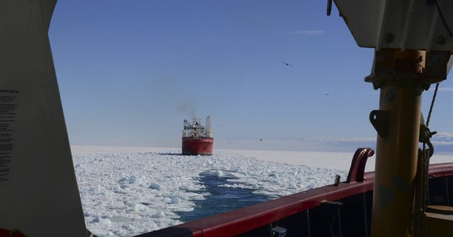 Rescuers reach fishing boat stuck in Antarctic ice