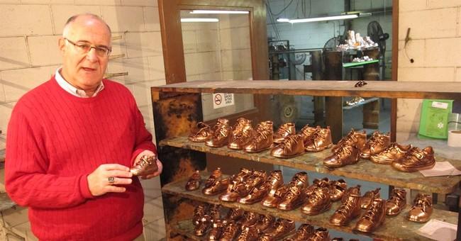 Social media kicks up sales of bronzed baby shoes