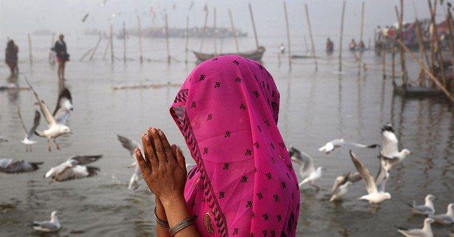 Image of Asia: Ritual on the River Ganges