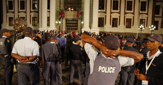Opposition outrage roils South African parliament