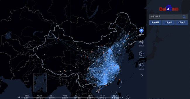 'Heat map' captures massive Chinese New Year migration