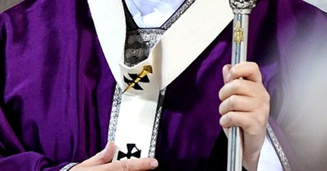 Pope walks in Ash Wednesday procession between Rome churches