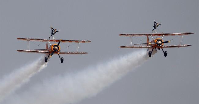 Image of Asia: Acrobatics in the skies over Bangalore, India