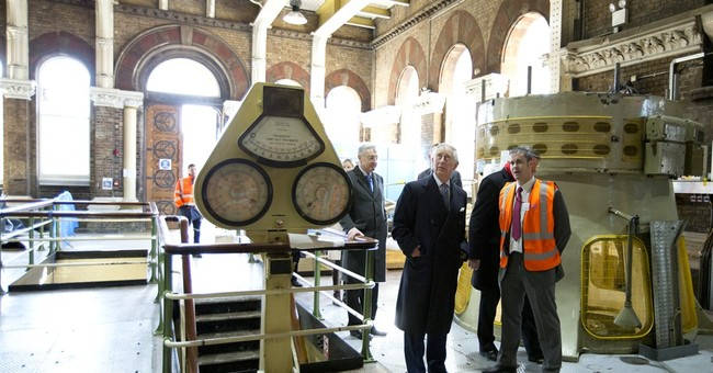 Royal flush: Prince Charles visits London sewage tunnel