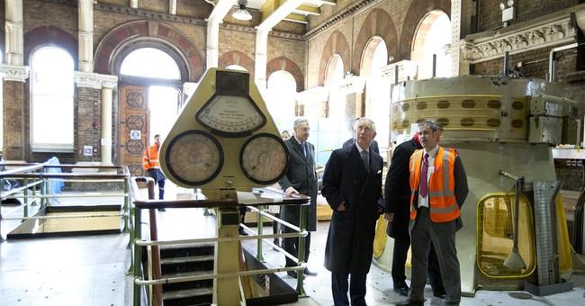 Royal flush: Prince Charles visits London sewage tunnel