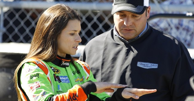 Danica Patrick to a backup car after wreck in practice