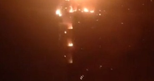 86-story tower in Dubai in flames, officials say no one hurt