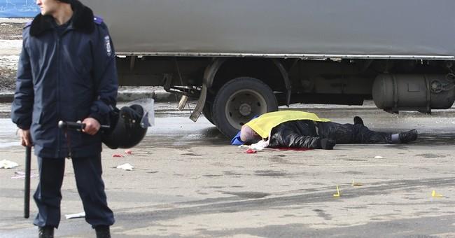 Blast hits march in eastern Ukraine, killing 2