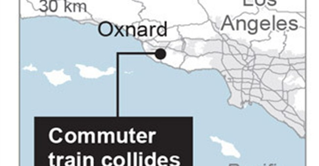 Abandoned truck's driver arrested after commuter train crash