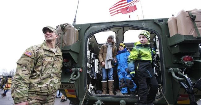US, NATO troops parade near Russian border in Estonia