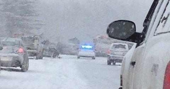 70-vehicle pileup in snowy Maine leaves at least 17 injured