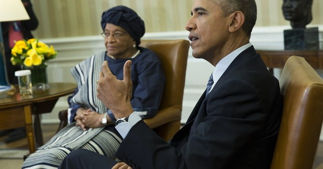 Obama, Liberian President Sirleaf discuss Ebola recovery