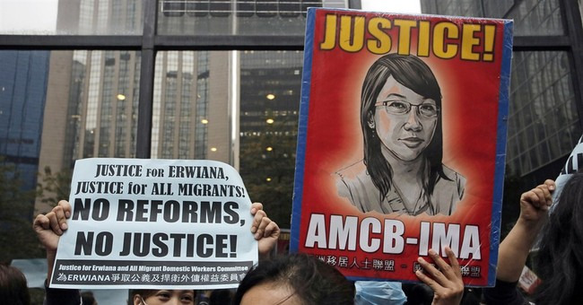 Hong Kong woman gets 6 years in Indonesian maid abuse case