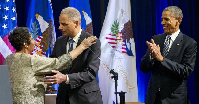 Obama bids farewell again to Attorney General Eric Holder