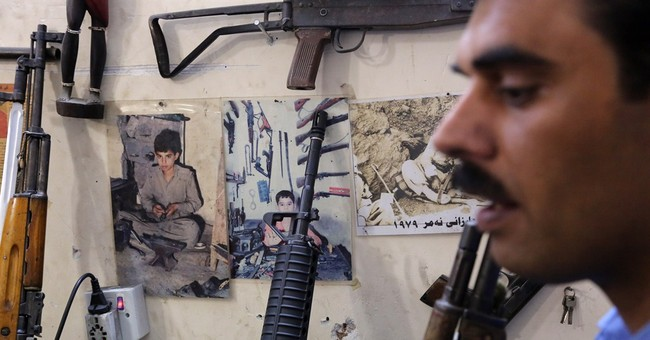 Islamic State threat boosts business for Kurdish gunsmith