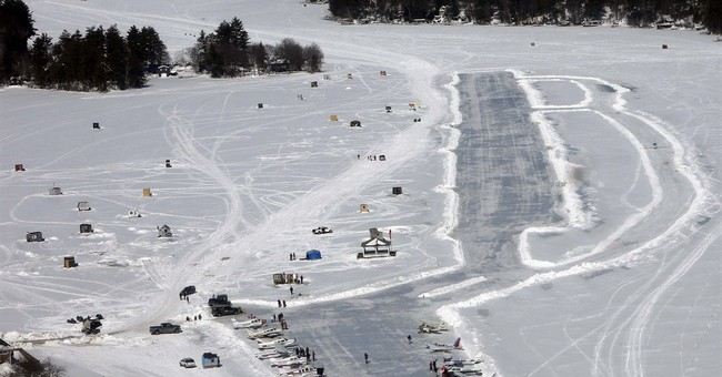 New Hampshire lake is Lower 48's only ice runway