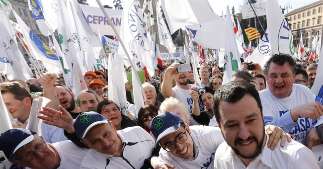 Italy's anti-immigrant movement brings protest rally to Rome