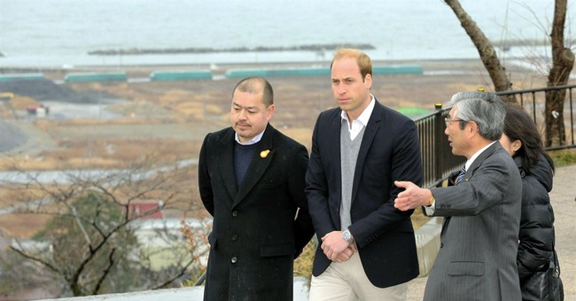 Prince William gets close look at tsunami disaster in Japan