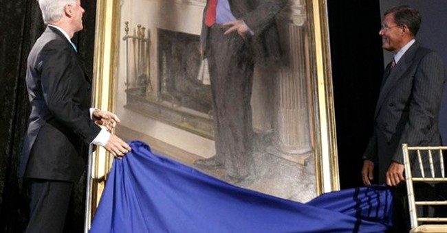 Artist: Clinton museum portrait has nod to Lewinsky's dress