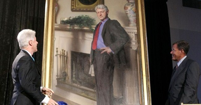 Artist: Clinton museum portrait has nod to Lewinsky's dress