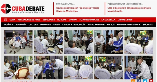 Fidel Castro meets with 5 Cuban agents once held by US