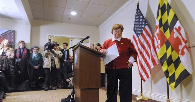 Veteran Democratic Sen. Mikulski won't seek re-election