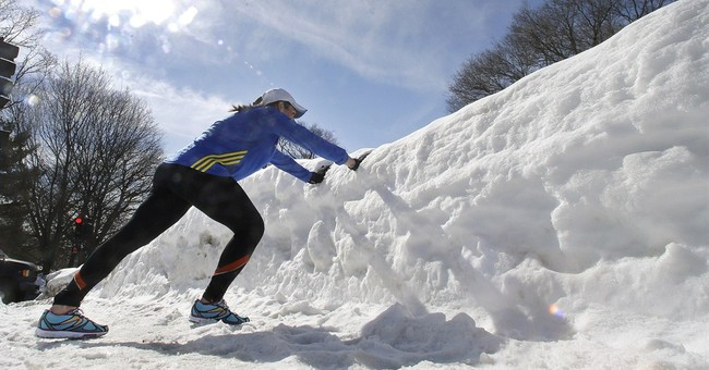 For marathoners, the road to Boston is caked in snow and ice