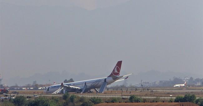 Turkish jetliner skids off on runway, passengers safe