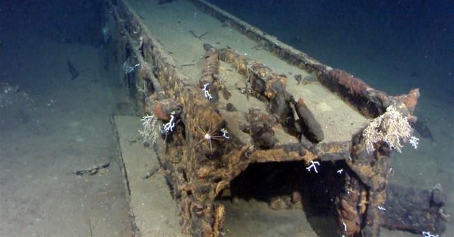 Ex-crew recognizes photos of sunken Japanese battleship