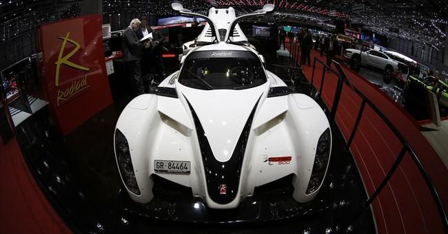 AP PHOTOS: A walk through the glitz of the Geneva car show