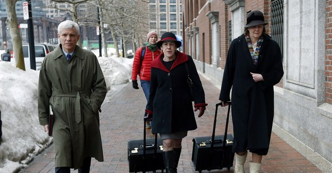 Latest on Boston bombing trial: Victim says she saw pal die