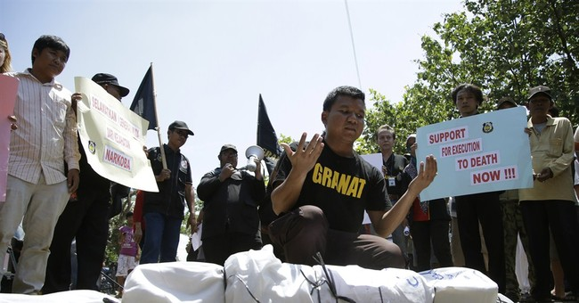 Image of Asia: Demonstrating support of the death penalty