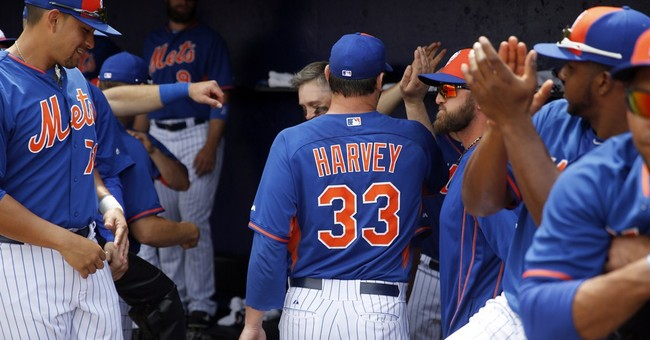 Harvey returns with 2 perfect innings, Mets beat Tigers