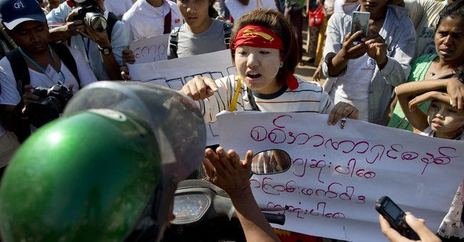 Myanmar police chase down students in 3rd protest crackdown