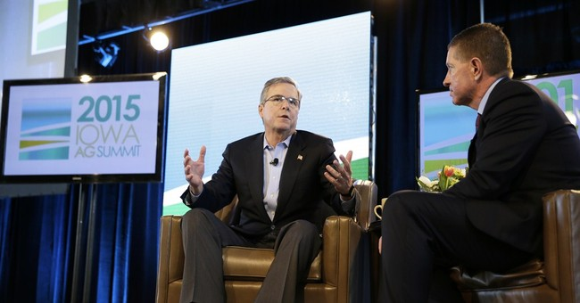 Republican Jeb Bush says he'd be an upbeat candidate