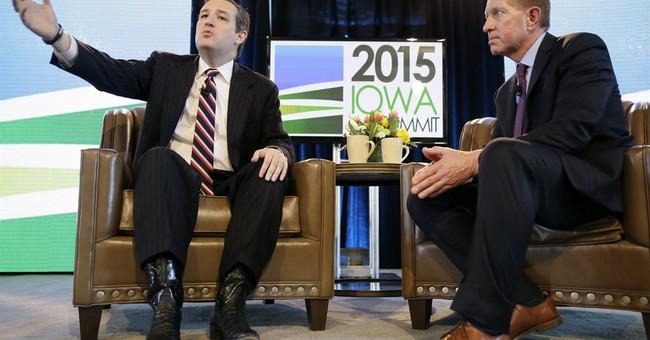 Texas' Cruz tells Iowans he opposes renewable fuel quota