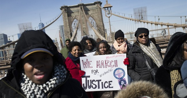 In solidarity with Selma, hundreds cross Brooklyn Bridge