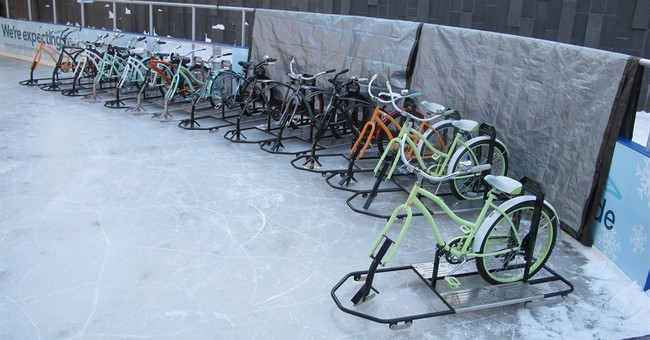Ice bikes gain traction in bitterly cold Buffalo, New York