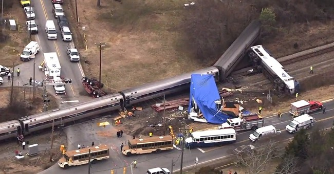 Amtrak train hit tractor-trailer too big for I-95