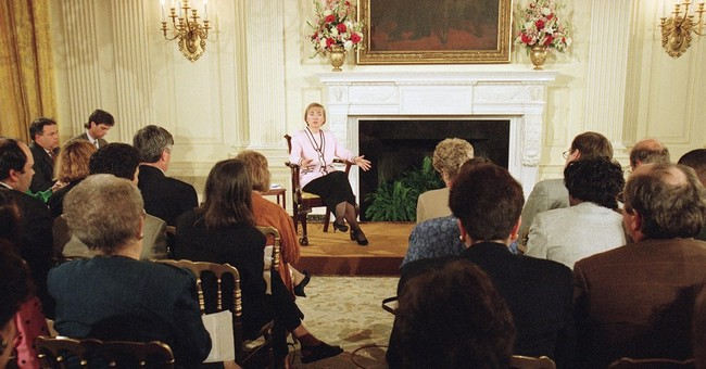 AP WAS THERE: Clinton takes questions on Whitewater in 1994