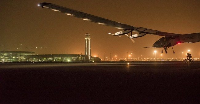Solar-powered plane lands in India on 2nd leg of world trip