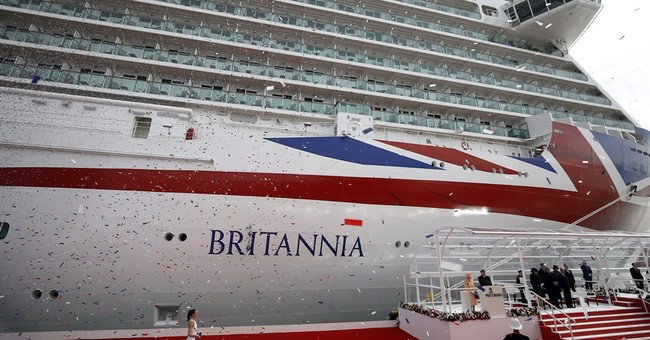 Queen christens new mega cruise ship