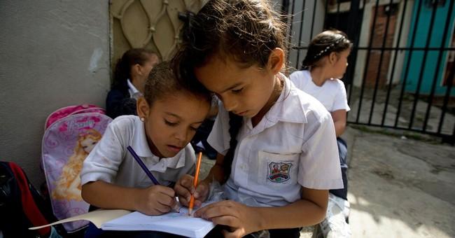 Venezuelan textbooks teach math, science, socialism