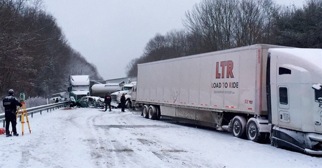 2 dead, many injured in 18-vehicle pileup during whiteout
