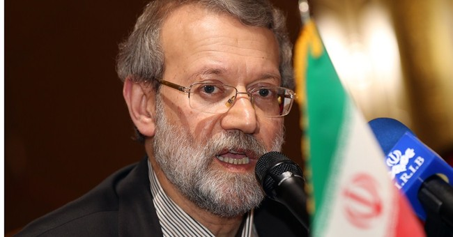 Iran parliament speaker in Qatar tries to allay Arab concern