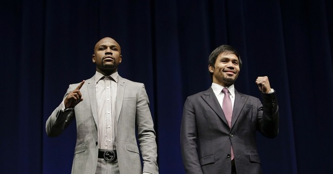 Mayweather, Pacquiao begin countdown to their big fight
