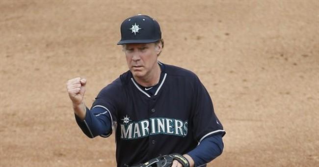 'Five tool' Will Ferrell bats, fields, coaches in Arizona
