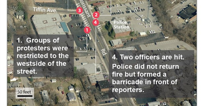 Correction: Ferguson officers shot story