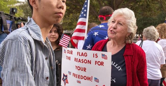 Flag flap at California school raises free speech debate