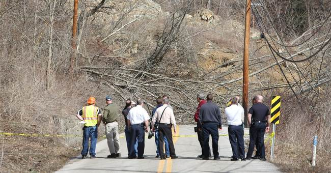 West Virginia residents evacuate homes after landslide